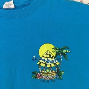 JIMMY BUFFET 2007 BAND TOUR T SHIRT 2 SIDED TOP